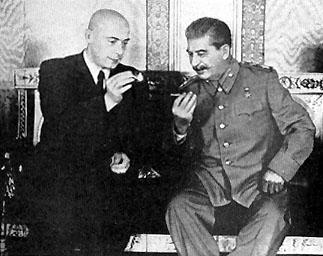Cyrankiewicz_Stalin