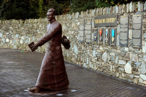 30-10-2013:The Hugh O'Flaherty statue on Mission Road, Killarney on Wednesday. Picture by Don MacMonagle