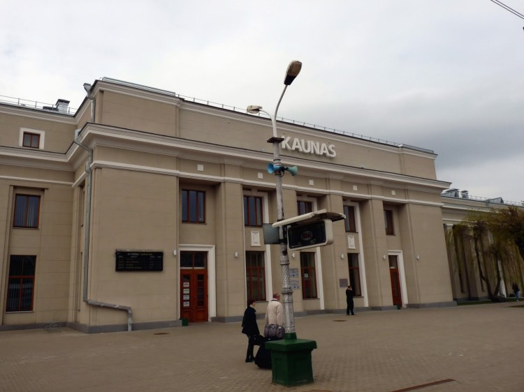 Lithuania train station KAUNAS Kowno