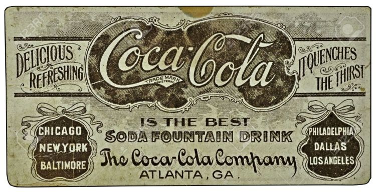 Vintage-Coca-Cola-ad-on-a-card--Stock-Photo-coke