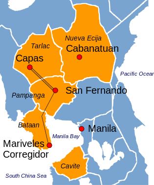 Bataan_Death_March_route_vector.svg