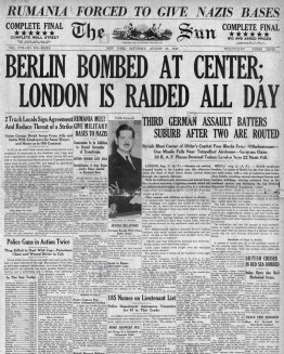 1940-the-sun-new-york-front-page-reporting-luftwaffe-bombing-raid-E5GGFR