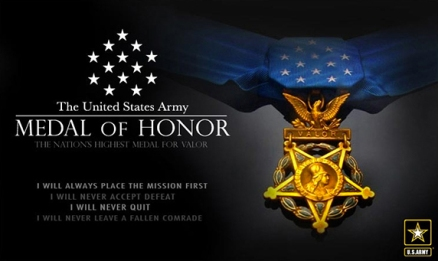 The Medal of Honor nomination process is governed by a strict set of rules, and packets require the award recommendation, an in-depth narrative, the citation, witness statements and topographical maps with detailed description of the events. (U.S. Army graphic)