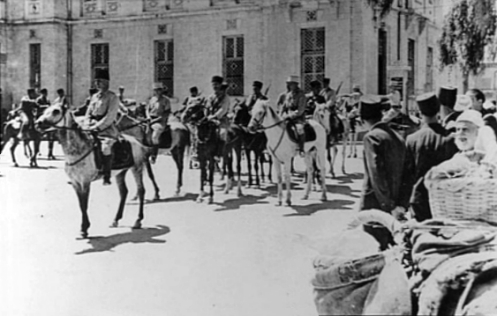 French_Circassian_Cavalry_on_their_way_to_making_surrender_arrangements_for_the_Axis_forces._Damascus_1941