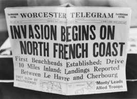 A '2nd Invasion Extra' edition of the Worcester Telegram newspaper, published in Worcester, Massachusetts, reporting the Allied invasion of Normandy on D-Day, 6th June 1944. (Photo by FPG/Hulton Archive/Getty Images)