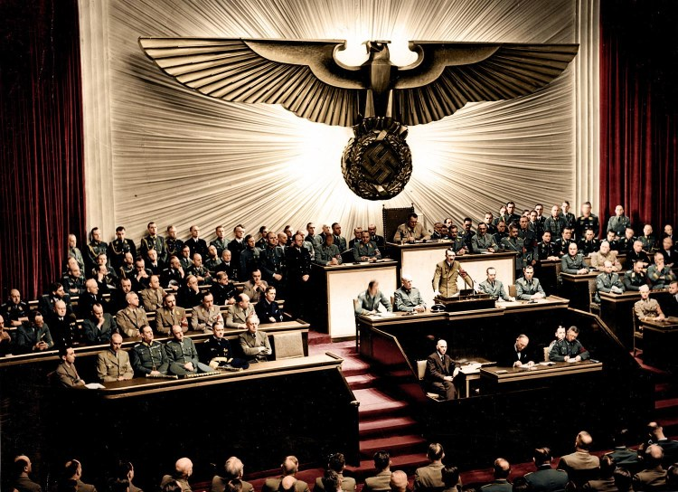 The speech where Adolf Hitler declared war on the USA, 1941