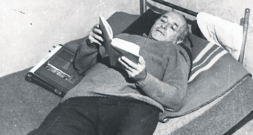 Klaus Barbie in his prison cell