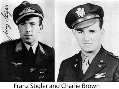 bf-109-pilot-franz-stigler-b-17-pilot-charlie-brown