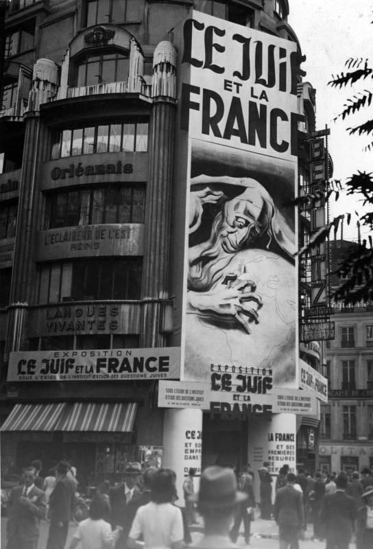 Paris, Propaganda gegen Juden