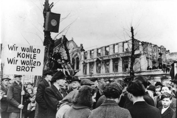 Krefeld, Hungerwinter, Demonstration