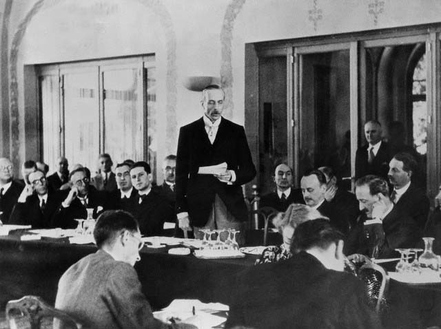 Lord Winterton Addressing a Conference Delegates