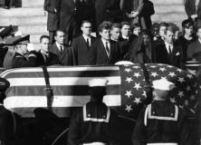 The family and friends of the assassinated American President John F Kennedy (1917 - 1963) mourning his death. (Photo by Keystone/Getty Images)