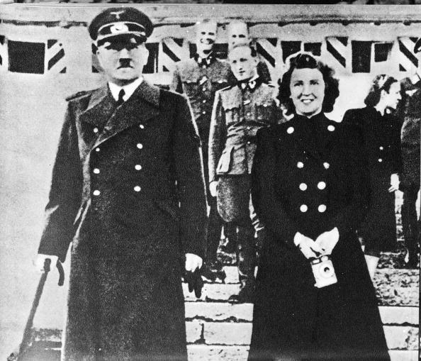 Hitler And Braun Pose For A Picture