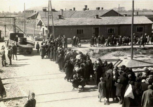 birkenau_a_group_of_jews_walking_towards_the_gas_chambers_and_crematoria