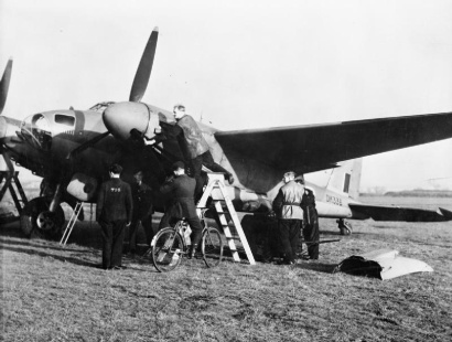 Operation OYSTER, the daylight attack on the Philips radio and valve works at Eindhoven, Holland, by No. 2 Group. Ground crews prepare De Havilland Mosquito B Mark IV, DK336, of No. 105 Squadron RAF for the raid at Marham, Norfolk. C 3298 Part of AIR MINISTRY SECOND WORLD WAR OFFICIAL COLLECTION RAFFPU