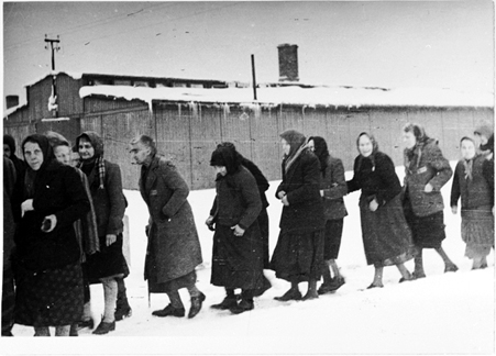 women-marching-out-of-birkenau