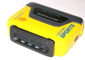 Sony Sports Walkman WM-BF59 This is a Sony Walkman WM-BF59 Auto Reverse Cassette Player Sports. The anti-rolling mechanism will stand up to normal Jogging. Originally fitted with MDR WM 15 Headphones has auto-reverse, Anti rolling, AVLS Auto stop FFWD and Rewind.