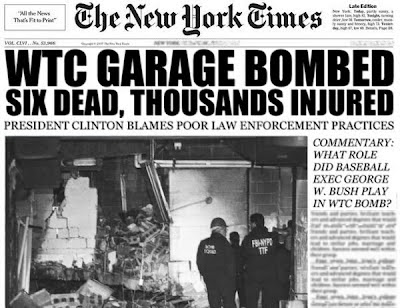 Image result for world trade center 1993 bombing newspaper images