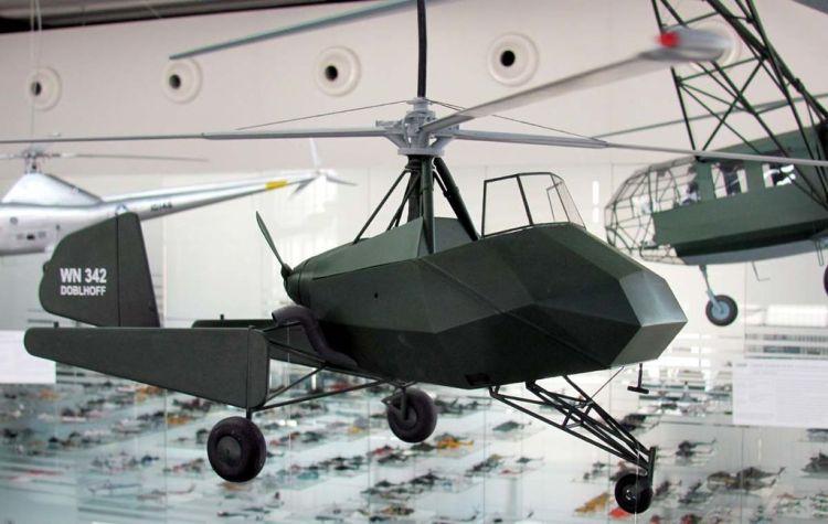 doblhoff_wnf_342_v-4_modell_im_hubschraubermuseum_buckeburg