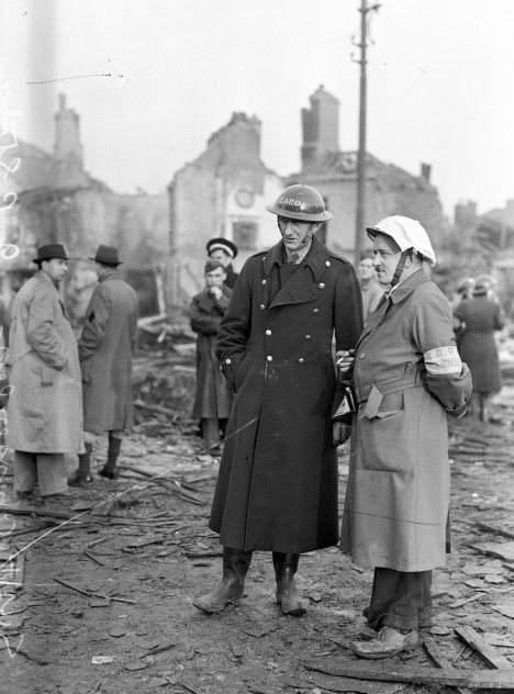 The North Strand the morning after the Geman bombing, On the night of 31st May 1941, four high-explosive bombs were dropped by German aircraft on the North Strand area of Dublin City, The casualties were many: 28 dead and 90 injured, with 300 houses damaged or destroyed, 01/06/1941 (Part of the Independent Newspapers Ireland/NLI collection).