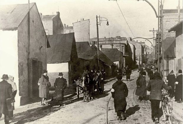 Będzin-Ghetto-1942-ul-Modrzejowska