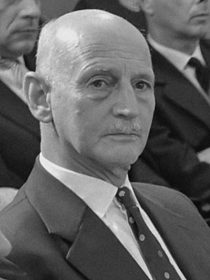 Anne Frank Huis geopend. Tijdens toespraak *1 mei 1961