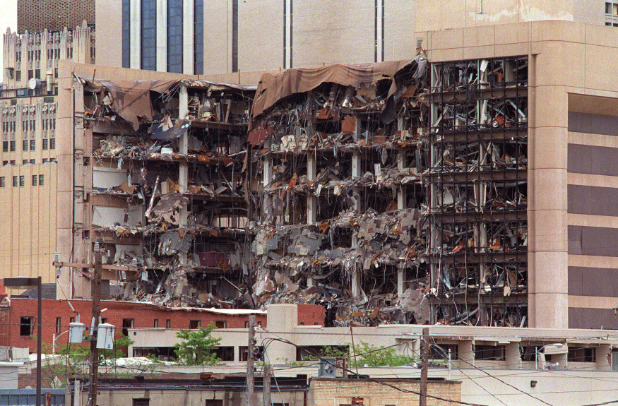 This 19 April 1995 file photo shows the north side