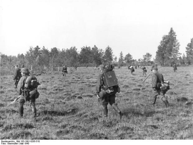 Sowjetunion, SS-Reiter bei Mosyr im Einsatz gegen Partisanen