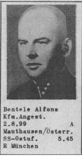 SS-Ostuf Alfons Bentele