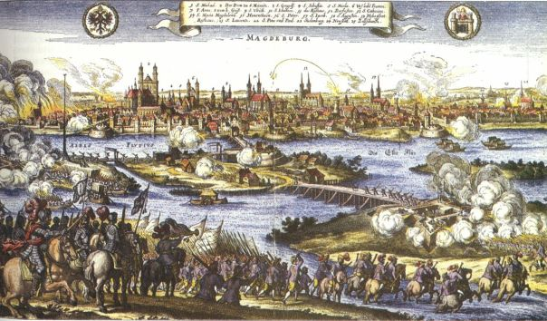 Image result for 1631 – The city of Magdeburg in Germany is seized by forces of the Holy Roman Empire & most of its inhabitants massacred, in one of the bloodiest incidents of the Thirty Years' War.