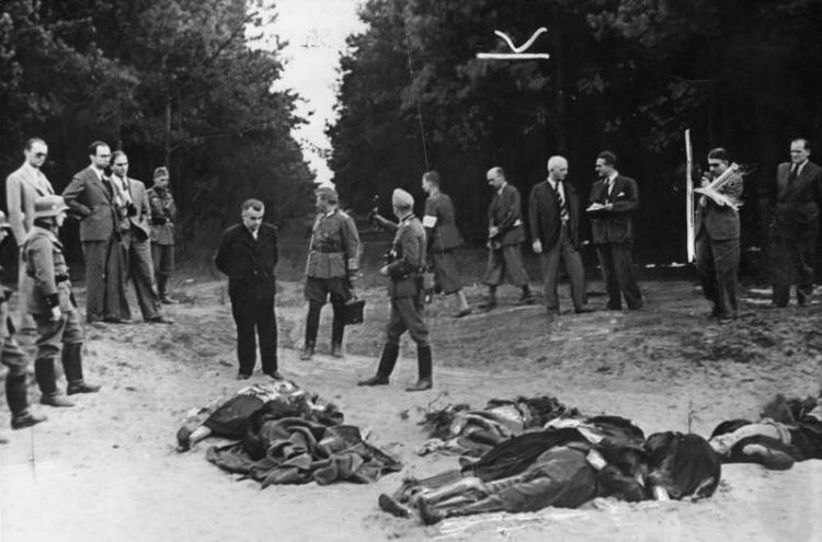 Bromberg, Leichen getöteter Volksdeutscher