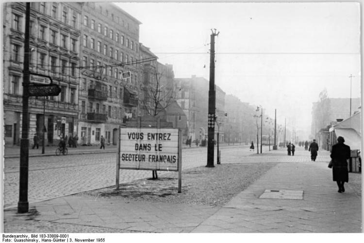Berlin, Bernauer Straße, Grenze