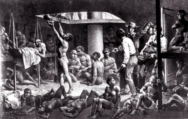 EnslavedAfricansinHoldofSlaveShip1827