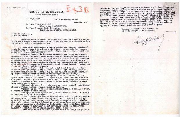 Szmul_Zygielbojm_suicide_letter_1943