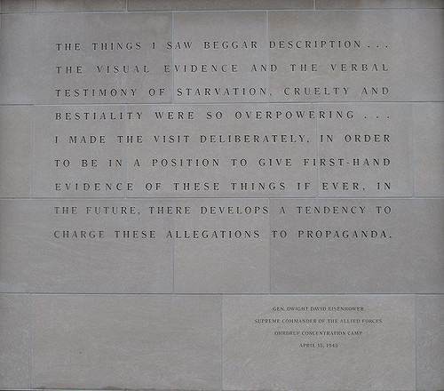 Dwight D. Eisenhower quote from Orhdruf Concentration Camp April 15, 1945