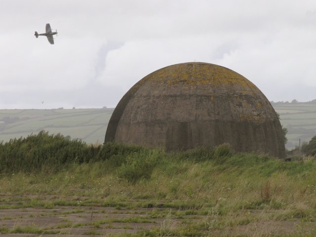 Disused_RAF_training_facility_and_a_Spitfire_-_geograph.org.uk_-_507432