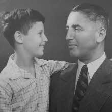 Fritz Pfeffer met zoon Werner, Berlijn, 1937/1938.