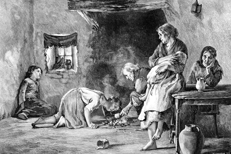 The Irish Famine, 1845-1849, (1900). Artist: Unknown