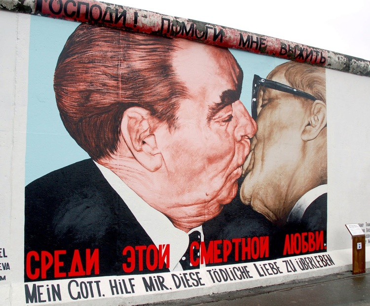 The Socialist Fraternal Kiss between Leonid Brezhnev and Erich Honecker 1979 2