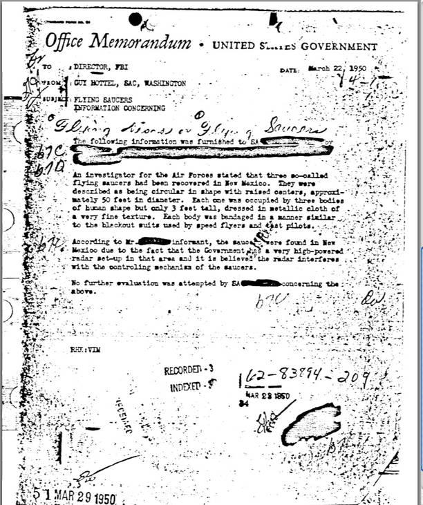 FlyingSaucersMemorandumMarch22-1950