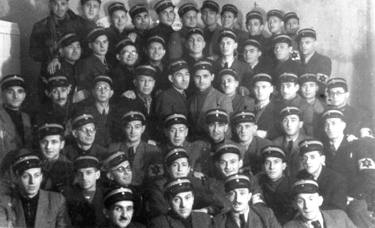 Members of the Jewish ghetto police force in the Lodz ghetto