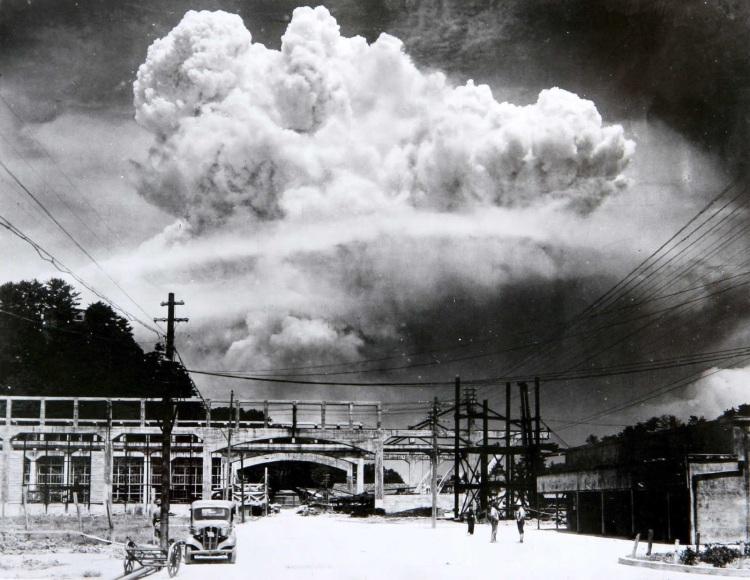 The atomic cloud over Nagasaki, 1945