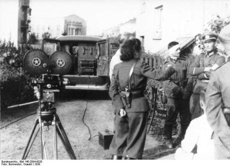 Polen, Truppenbesuch von Leni Riefenstahl