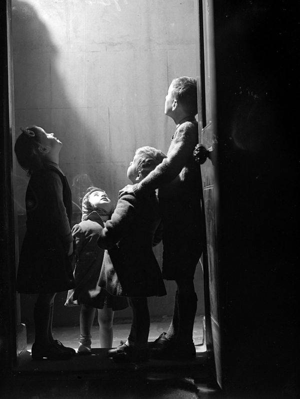 children-looking-outside