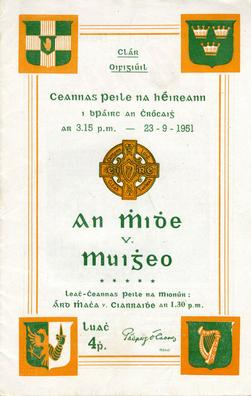 1951_All-Ireland_Senior_Football_Championship_Final_match_programme