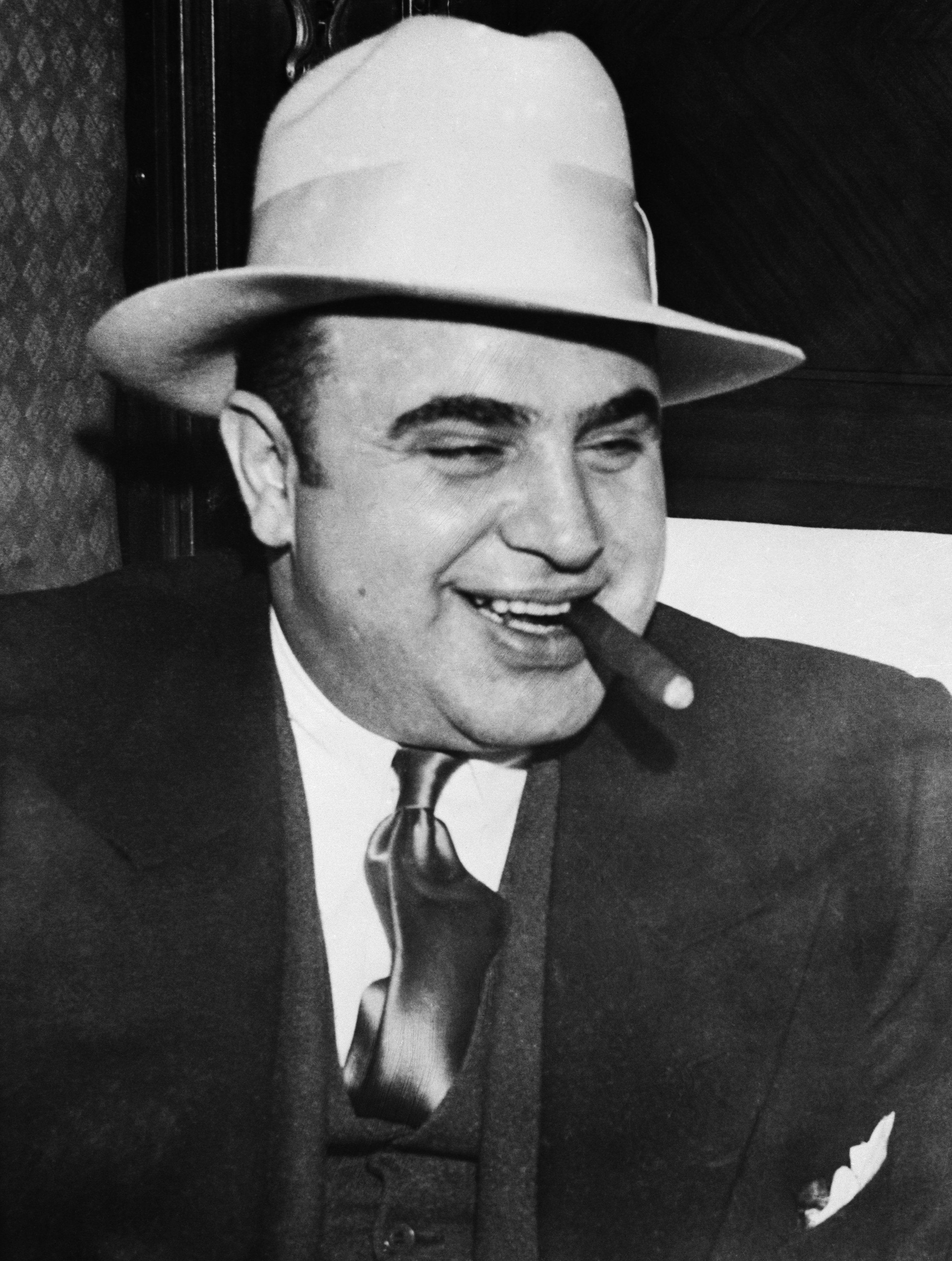 Gangster Al Capone Smoking Cigar