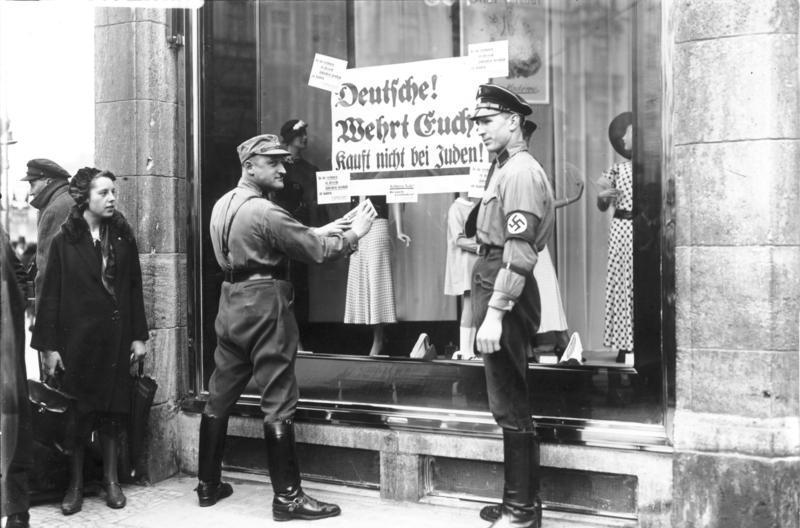 Berlin, NS-Boykott gegen jüdische Geschäfte