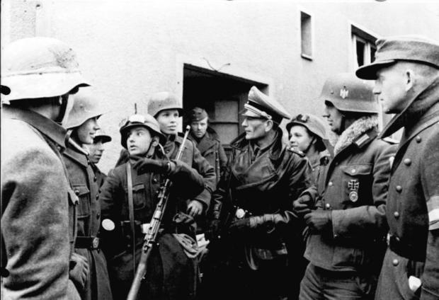 Volkssturm, Einsatz einer Hitler-Jugend-Kompanie