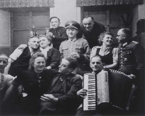 Group portrait of T-4 Euthanasia program personnel at a social gathering