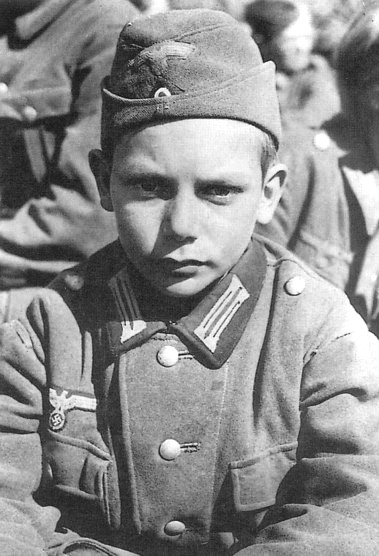 HitlerJugend aged 13 captured by Americans near Nartinzell in 1945